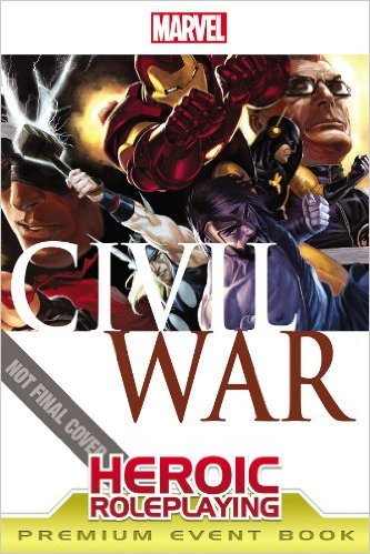 """Marvel Heroic Roleplaying: Civil War Event"" Cover"