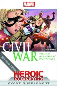 """Marvel Heroic Roleplaying: Civil War: Young Avengers/Runaways"" Cover"